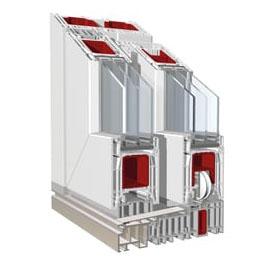 Podizno-klizni sistem PVC - KBE PremiDoor 76