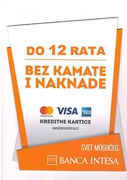 U MR PVC možete plaćati na 12 rata bez kamate i naknade Visa karticom
