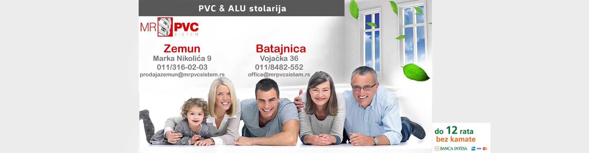 PVC i ALU stolarija MR PVC lokacije u Zemunu i Batajnici