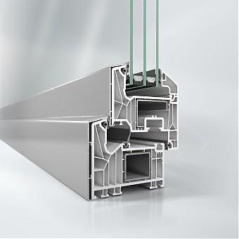 U MR PVC sistemu imamo u ponudi profil SCHUCO 82 koji omogućava trostruko zastakljivanje sa mogucnošću paketa stakla debljine od 24mm do 52mm